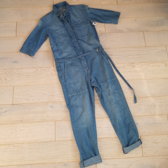 d5c5ee22d2be GAP 1969 Denim Coverall Jumpsuit XS Small